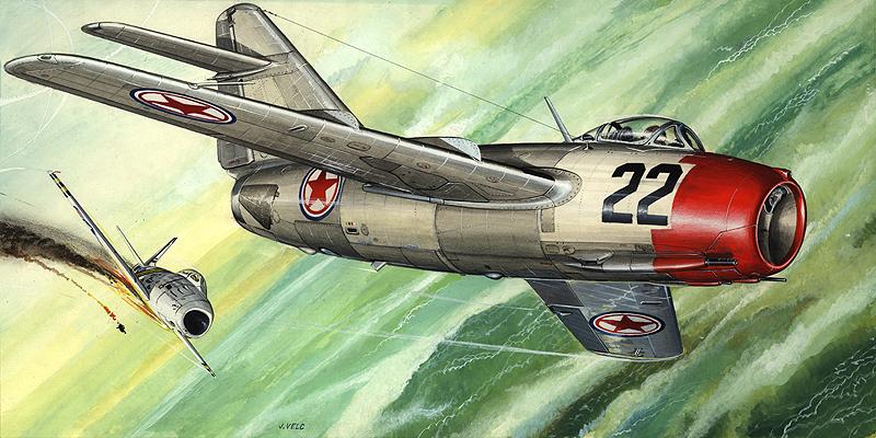 ミグ MiG-15 ファゴット -朝鮮戦争 MiG-15 Fagot ... KPモデルズ