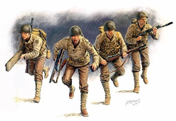 1/35 米・歩兵4体・1944年D-DAY ...