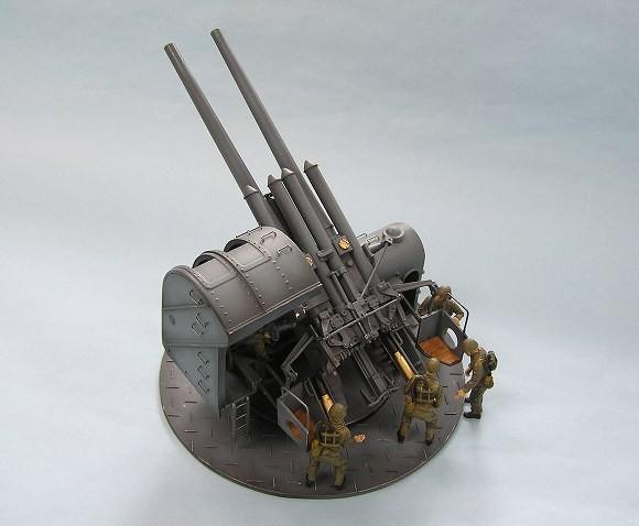 日本海軍 89式12 7cm 連装高角砲 砲兵フィギュア5体付 ピットロード